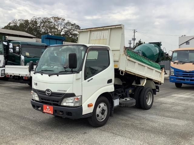 日野  極東 手動シート ターボ ダンプ 5速マニュアル ホワイト