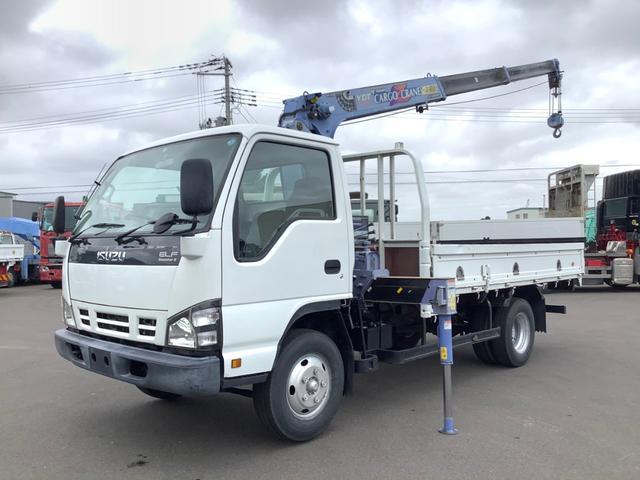 いすゞ エルフトラック  タダノ3段 2.63t ZR263 高さ制限機能付 ロープ穴 6個