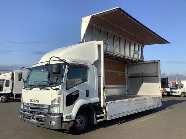 いすゞ フォワード  日本フルハーフ フルゲート 1000kg ラッシングレール2段 台枠フック10個