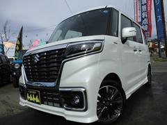 スペーシアカスタムハイブリッドXSターボ4WD届出済未使用車LED新品ナビTV