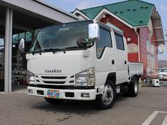 エルフトラックWキャブフルフラットロー 4WD 3.0ディーゼル Wキャブ6人乗り 積載量1.500kg 4ナンバー車 ナビ ワンセグTV ETC リアヒーター