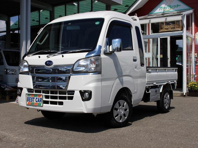 スバル サンバートラック グランドキャブ 4WD オートマ Bluetooth対応ナビ 地デジTV キーレス 工具箱 LEDフォグライト リアプライバシーガラス