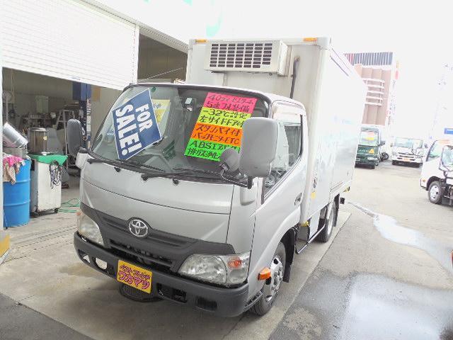 トヨタ ダイナトラック  スタンバイ付2t低温冷凍車4.0ディーゼルターボデンソー製冷凍機-32℃設定左サイドドア2室式ラッシングレール2段