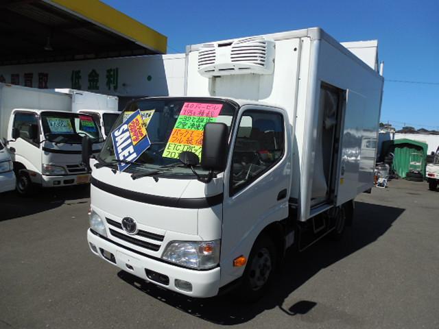 トヨタ トヨエース  冷蔵冷凍車デンソー製冷凍機-32℃設定4.0ディーゼル1.95t積左サイドドア二室式フルジャストロー