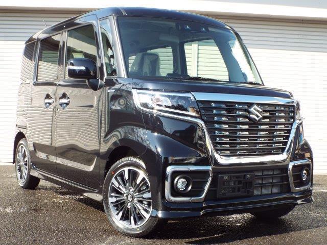 スズキ スペーシアカスタム ハイブリッドXS 4WD 届出済未使用車 DCBS ESP付 電動ドア