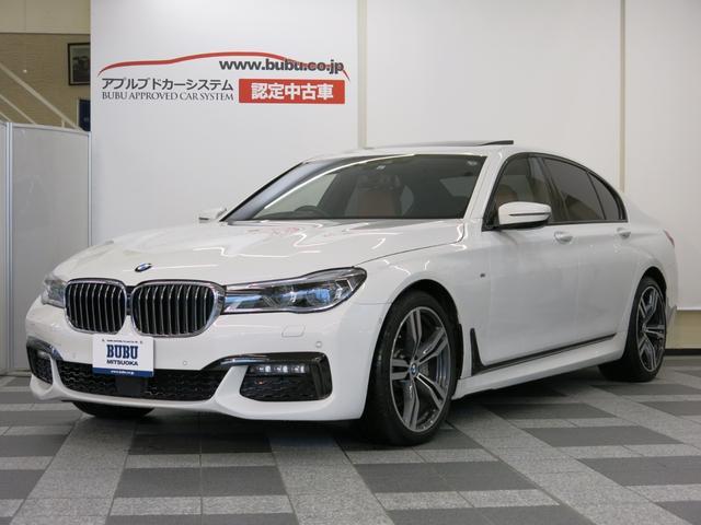 BMW 7シリーズ 740i Mスポーツ D車・コニャックレザーシート・全席シートH・ベンチレーション・シートマッサージャー・ヘッドアップディスプレイ・360度カメラ・サンルーフ・純正ナビ&DTV・専用20AW・リア5面フィルム