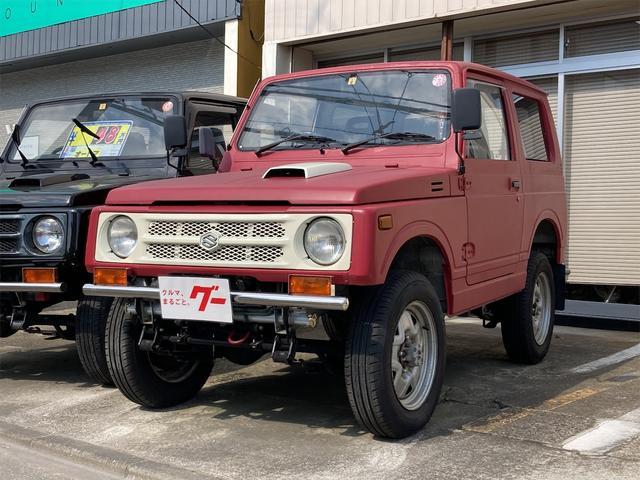 スズキ ジムニー ワイルドウインドリミテッド 4WD 社外ステンレスバンパー リフトアップ AT エアコン パワステ CD/オーディオ付き ターボ