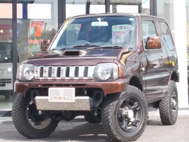 スズキ XG 4WD ターボ リフトアップ MTタイヤ 全塗装済 LEDヘッドライト  CDオーディオ 記録簿 LED冬タイヤ付