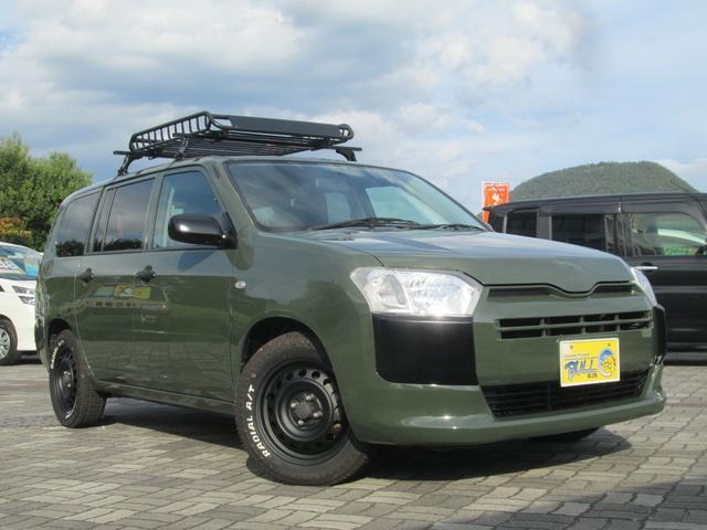 トヨタ プロボックス GL 4WDオートマ SDナビ 地デジTV ETC 横滑り安全装置 電動ミラー キーレス プライバシーガラス ルーフキャリア ルーフラック 15インチホワイトレタータイヤ