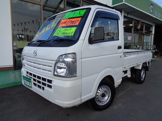 マツダ KCエアコン・パワステ 切替4WD エアバック AM/FMラジオ
