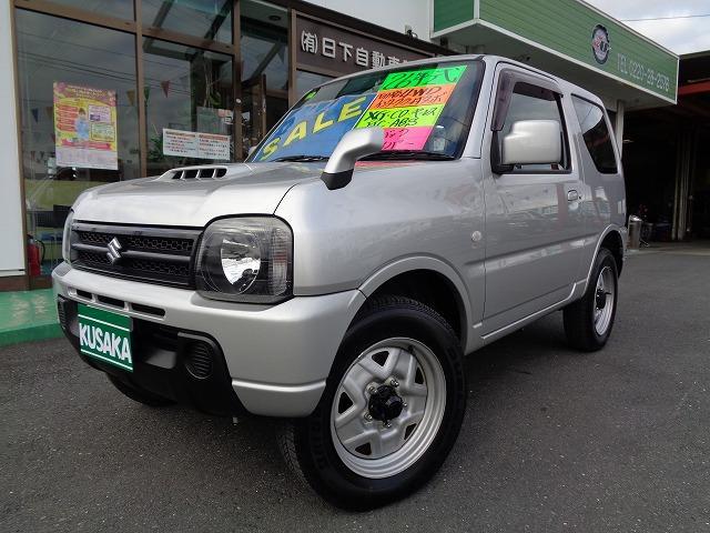 スズキ ジムニー XG 切替4WDインタ-ク-ラ-付きタ-ボ CD キ-レス ETC ABS Wエアバック リアワイパー