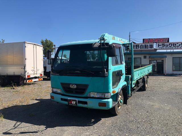 UDトラックス 平 3段クレーン ユニック車 フックイン 関東仕入れ