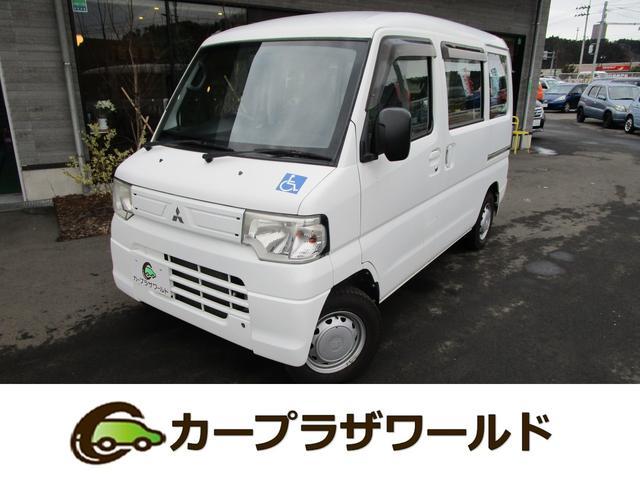 三菱 ミニキャブバン CD 車椅子乗降用電動リフト ABS パートタイム4WD UVカットガラス