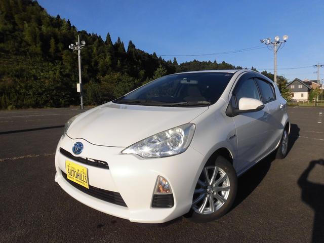 トヨタ アクア G カーナビ フルセグTV DVD Bluetooth バックモニター プッシュスタート スマートキー 横滑り防止 アイドリングストップ オートエアコン
