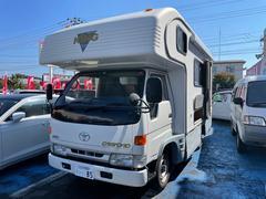 ダイナトラック キャンピングカー サイドオーニング シンク コンロ カセットトイレ シャワー ガス温水ボイラー 冷蔵庫 FF式ヒーター 4WD