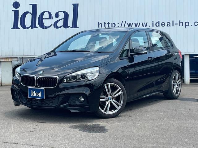 BMW 218iアクティブツアラー Mスポーツ LEDライト 純正HDDナビ 社外フルセグ地デジチューナー バックカメラ 電動テールゲート バックソナー 衝突軽減ブレーキ レーンアシスト ETC 純正17インチアルミホイール