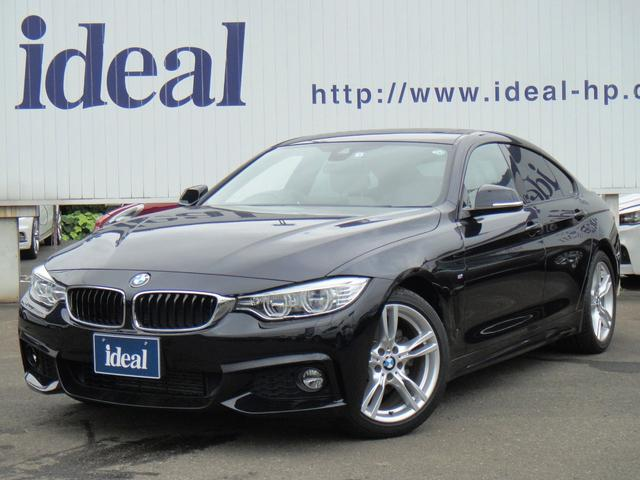 BMW 4シリーズ 420iグランクーペ Mスポーツ ワンオーナー 純正ナビ ACC 車線逸脱警報 バックカメラ パドルシフト ETC レザーシート ガラスサンルーフ
