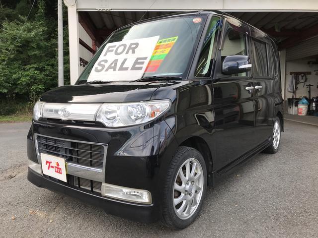 ダイハツ カスタムRS ナビ 軽自動車 4WD インパネAT 保証付