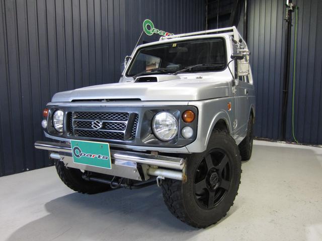 スズキ ランドベンチャー 4WD エアコン パワステ 社外フロントバンパー/リアバンパー 16インチAW ルーフキャリア 社外ステアリング 社外CDデッキ
