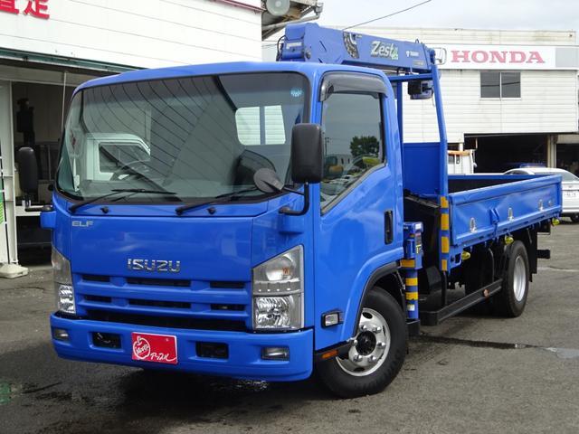 いすゞ 平ボディ2tタダノ3段クレーン ラジコン付き 6MT ターボ