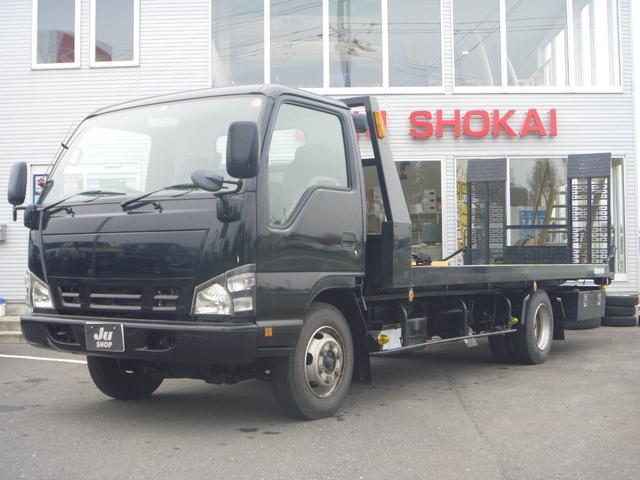 日産 アトラストラック  セーフティーローダー4WD3t リモコン 関東仕入車両全長744cm幅219cm高さ237cm