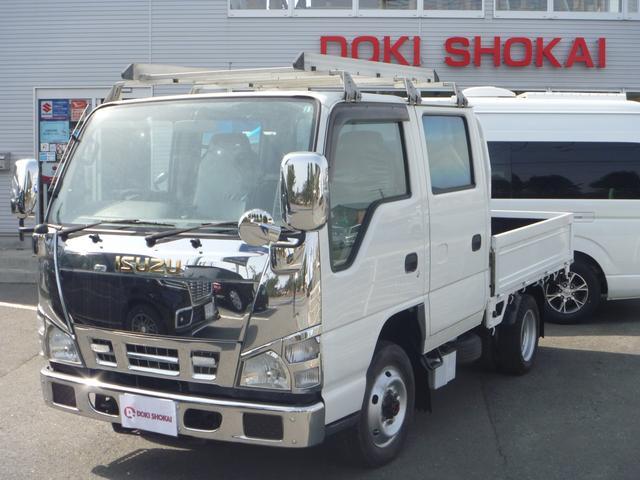 いすゞ エルフトラック Wキャブ 4WD 5速マニュアル 運転席エアバッグ エアコン パワステ