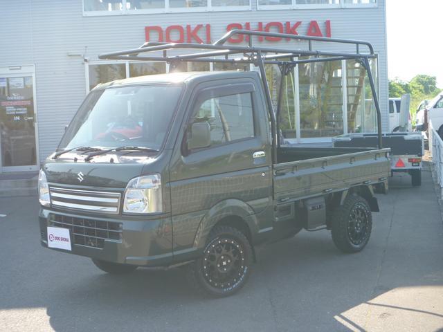 スズキ キャリイトラック KCスペシャル 4WDハードカーゴ リフトアップ MLJ MTタイヤ LEDテール