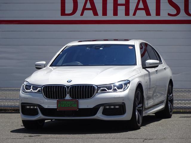 BMW 740d xDrive Mスポーツ 4WD 1オーナー ディーゼル 純正HDDナビ フルセグTV 全方位モニター ブラウンレザーシート サンルーフ インテリジェントセーフティ シートヒーター LEDヘッドライト ドラレコ ETC