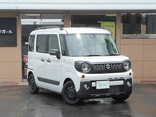 スズキ ハイブリッドXZ ターボ 4WD 届出済未使用車 両側電動