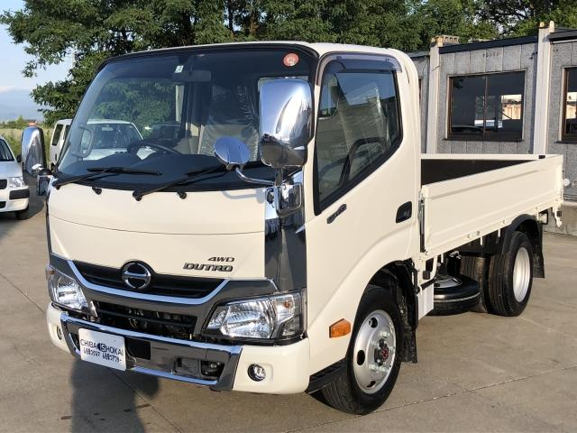 日野 平ボディ 積載2000kg 4WD メッキ付 ターボ