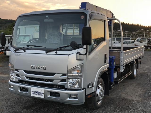 いすゞ ワイド超ロング クレーン4段 ラジコン 積載3t 4WD