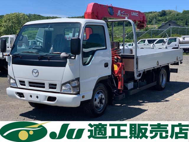 マツダ タイタントラック  ユニック製5段クレーン付 アルミブロック平ボディ 4WD 積載量2,000kg