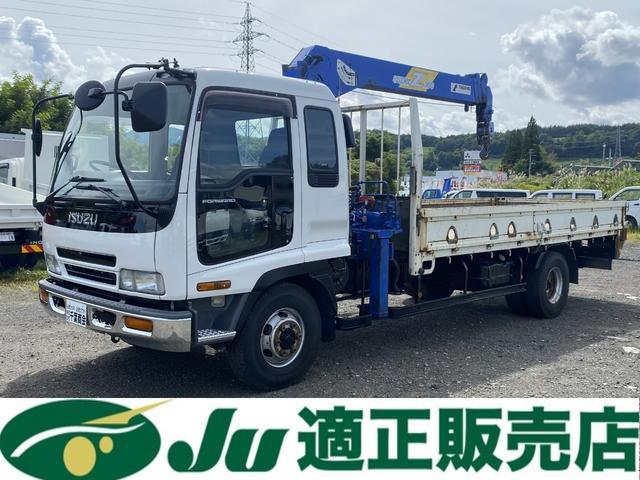 いすゞ フォワード  タダノ4段クレーン 平ボディ 角足 ラジコン付 アユミ掛け 積載量2,400kg