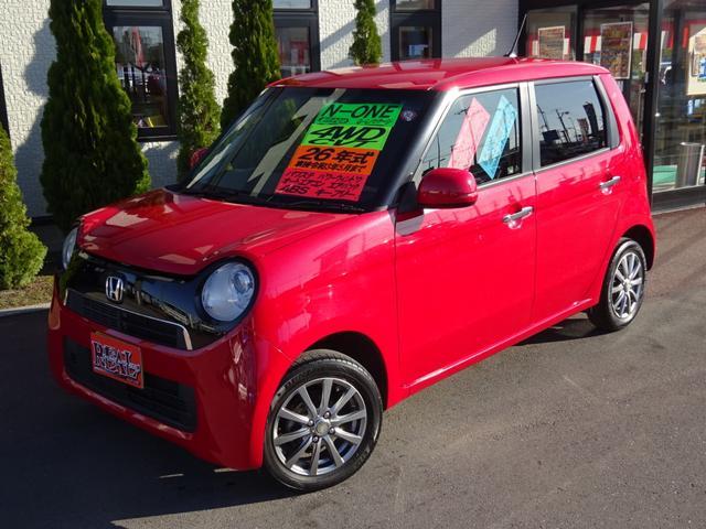 ホンダ N-ONE G・Lパッケージ 4WD HIDライト メモリーナビ フルセグTV DVD バックカメラ 社外14インチアルミ キーフリー ABS オートエアコン