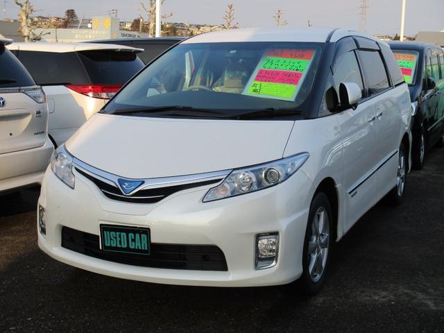 トヨタ エスティマハイブリッド Xタイプ 4WD フリップダウンモニター