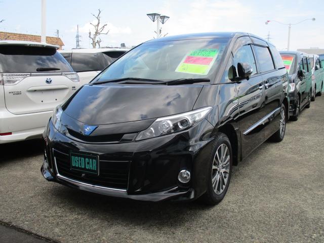 トヨタ エスティマハイブリッド アエラス プレミアムエディション 4WD ハーフレザーシート