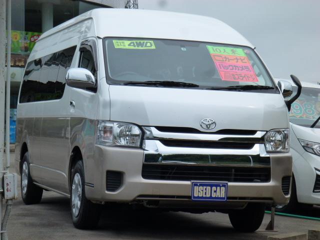 トヨタ グランドキャビン 10人乗り 4WD ナビ フルセグTV バックカメラ ETC パワースライドドア