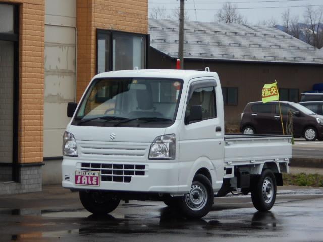 スズキ キャリイトラック KCエアコン・パワステ 4WD ゲートプロテクター サイドバイザー付き5速マニュアル