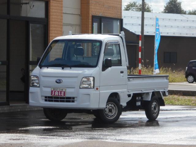 スバル サンバートラック TC プロフェッショナル 4WD  エアコン パワステ付き 関東使用 スタッドレスタイヤ付きゲートプロテクター 新品荷台マット バックブザー付き