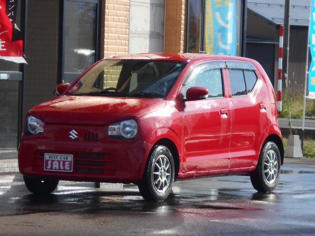 スズキ アルト X 4WD ツートンカラー プッシュスタート 衝突軽減ブレーキ アイドリングストップ機能付き 横滑り防止 シートヒーターはフロント左右 スタッドレスアルミセット