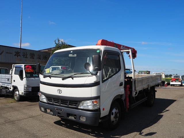 トヨタ ダイナトラック  4.6D 2t 3段クレーン フックイン2.63t吊 古河UNIC URV263