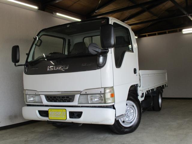 いすゞ エルフトラック  4WD 平ボディ 低床 Wタイヤ