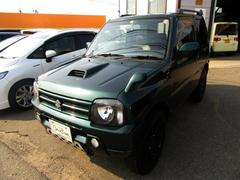 ジムニーランドベンチャー 4WD 社外マッドブラックアルミ、マフラー