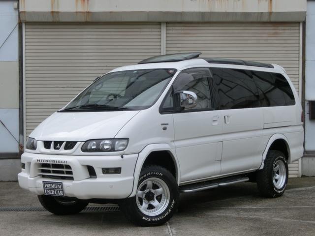 三菱 ロング スーパーエクシード 4WD リフトUP ロング スーパーエクシード(7名)クリスタルルーフ