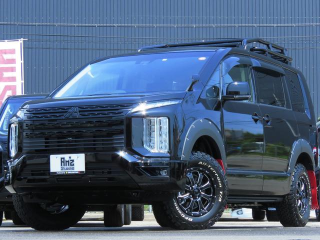 三菱 G パワーパッケージ 4WD AmzStudio BKエディション 1.2リフトUP キャンパー仕様  KADDISルーフラック 新品AWセット 純正サイドS レダクル衝突軽減 ステアリモコン Pゲート