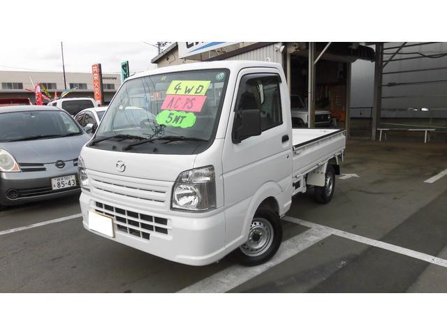 マツダ スクラムトラック KCエアコン・パワステ 4WD マニュアル エアコン パワステ