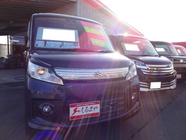 スズキ スペーシアカスタム TS 4WD ターボ レーダーブレーキサポート 両側電動スライドドア ワンセグ対応スマートフォン連携純正ナビ カラーバックカメラ 純正15インチアルミホイール スマートキー