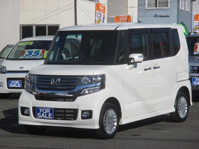 ホンダ N-BOX+カスタム G 4WD 横滑り防止 プッシュスタート 社外アルミ HID