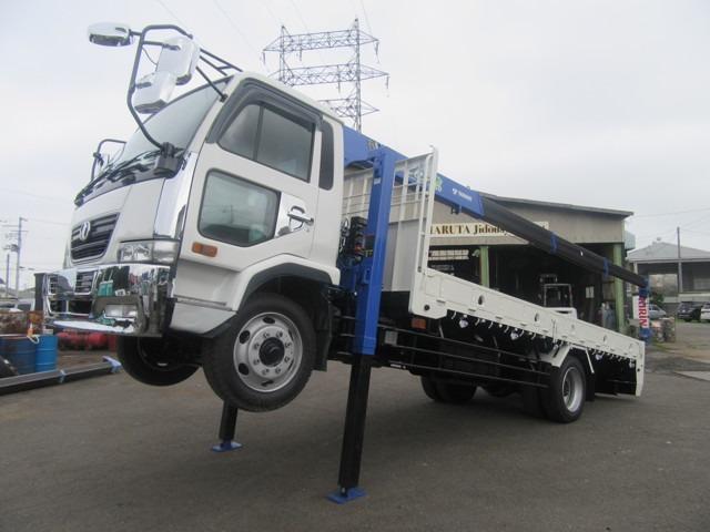 UDトラックス タダノ4段クレーン未使用機 増トン 重機運搬仕様車