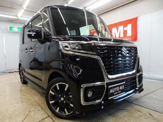 スズキ スペーシアカスタム ハイブリッドXS 4WD 届出済未使用車 両側パワスラ